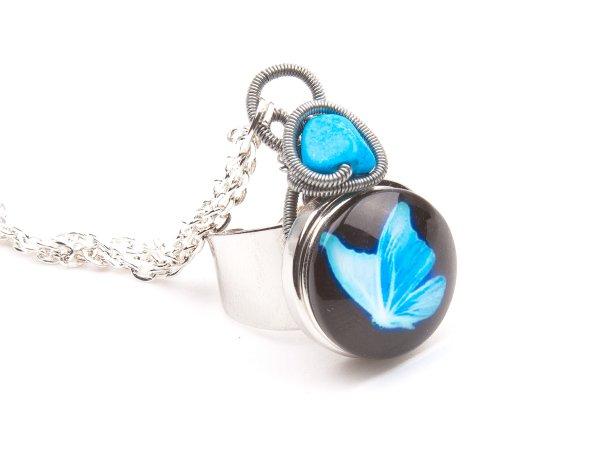 Кольцо-браслет из бирюзы с 4-мя сменными кольцами