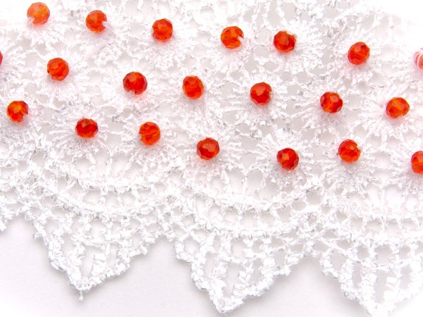 Ободок на резинке с цветочным кабошоном