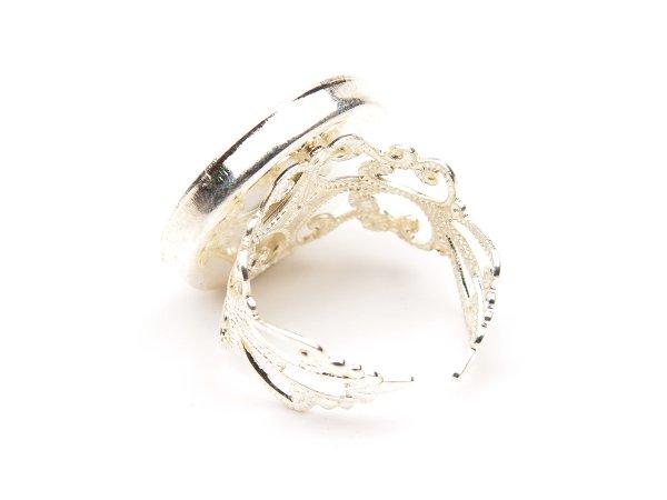 Кольцо с анютиными глазками
