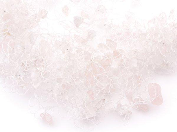 Воздушное колье из розового кварца
