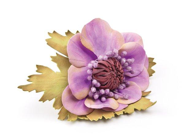 Шпилька Цветок сиреневый из фоамирана