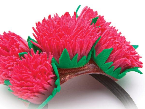 Заколка-резинка Розовые цветы из фоамирана