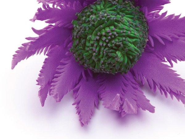 Шпилька Экзотический цветок из фоамирана