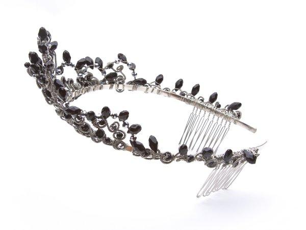 Диадема-корона черная