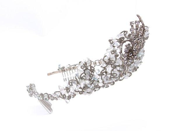Диадема-корона из горного хрусталя