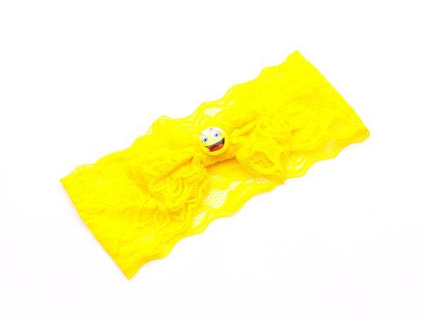 Детский ободок-повязка со смайликом