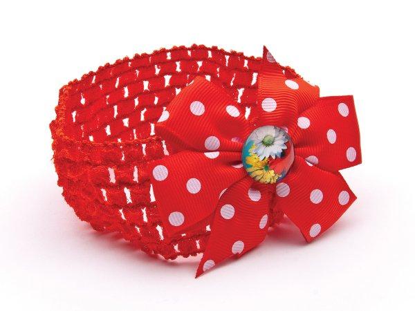 Детский ободок-повязка с цветами
