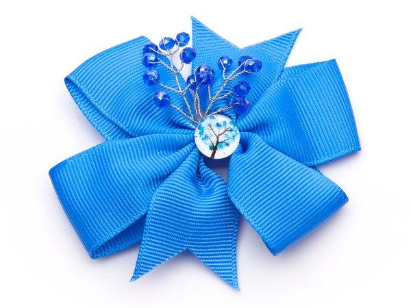 Набор из двух голубых заколок-бантиков