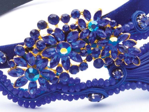 Ободок синий Великолепный век в современном стиле