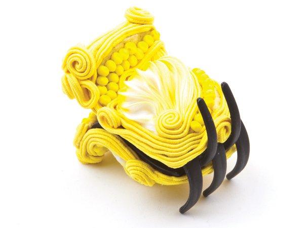 Заколка-краб маленькая желтая