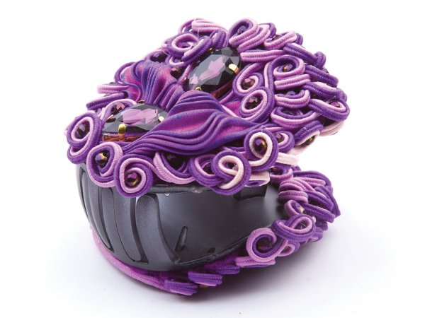 Заколка-краб фиолетово-сиреневый