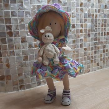 Кукла интерьерная с зайкой